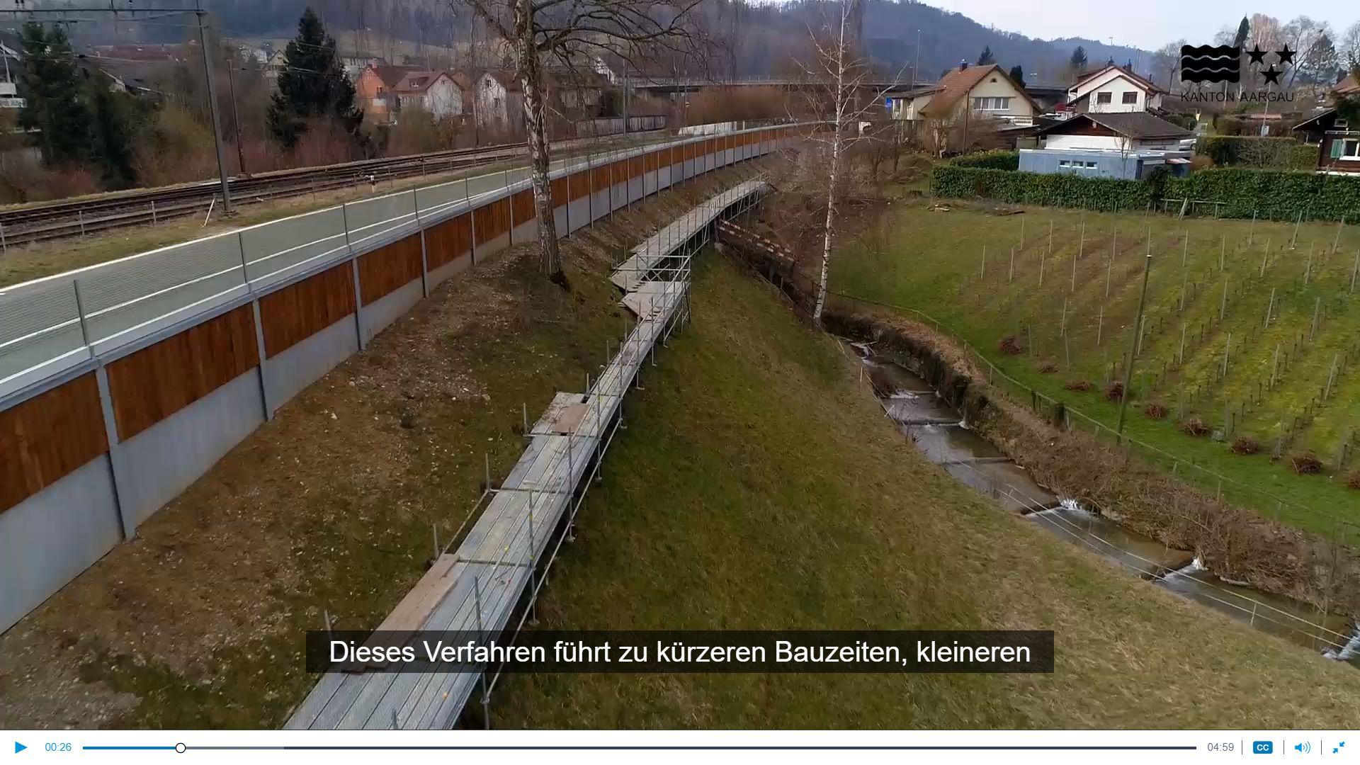Innovatiivne müratõkkebarjääri tugikonstruktsioonide paigaldus Šveitsis